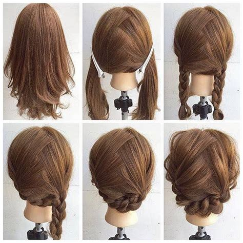 shoulder length updo tuturial fashionable braid hairstyle for shoulder length hair