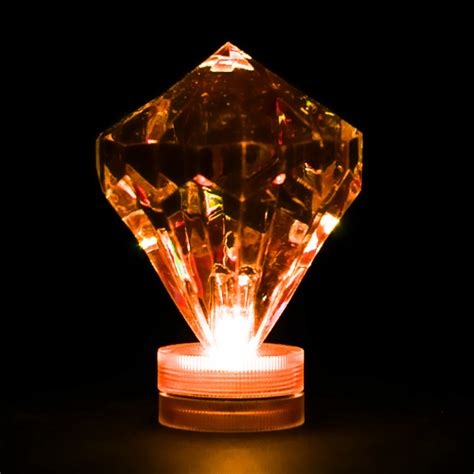 orange submersible diamond led light