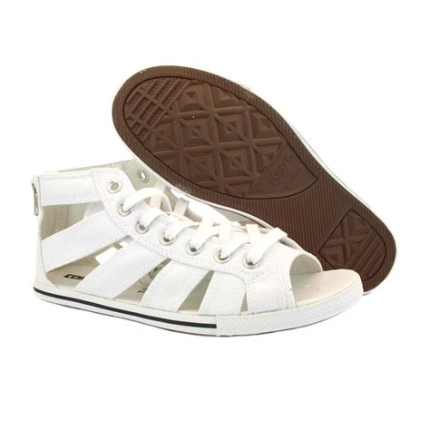 white converse sandals converse chuck gladiator 537050 womens laced zip