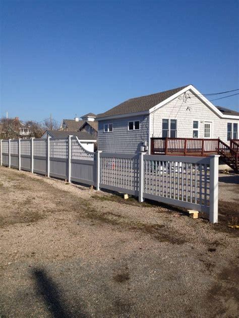 beach house vinyl beach house grey vinyl lattice fencing