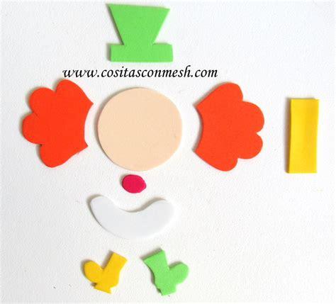 molde de payaso en cartulina 09 23 15 cositasconmesh