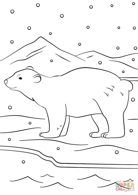 winter bear coloring page winter bear coloring page free printable coloring pages
