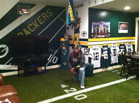 green bay packers bedroom ideas kevin s green bay packer fancave playroom children s