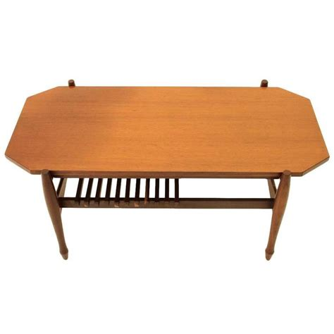 Compartment Coffee Table by Italian Teak Coffee Table With Newspaper Compartment