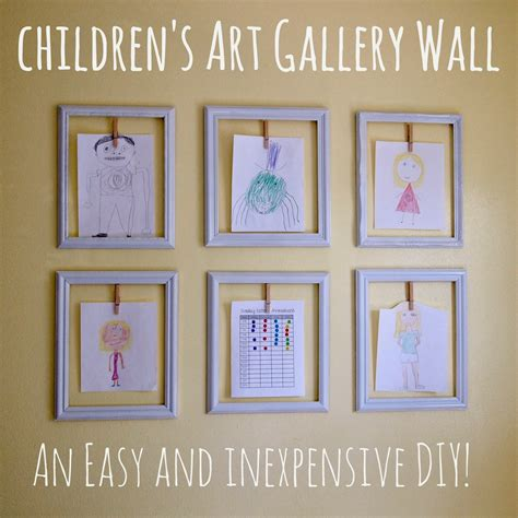 Creative Ways To Hang Pictures Without Frames cathey with an e diy children s art gallery wall
