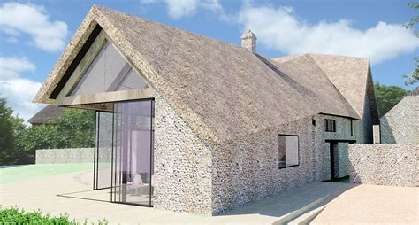 Farm House House Plans by A Contemporay Thatched Roof Extension To A Listed