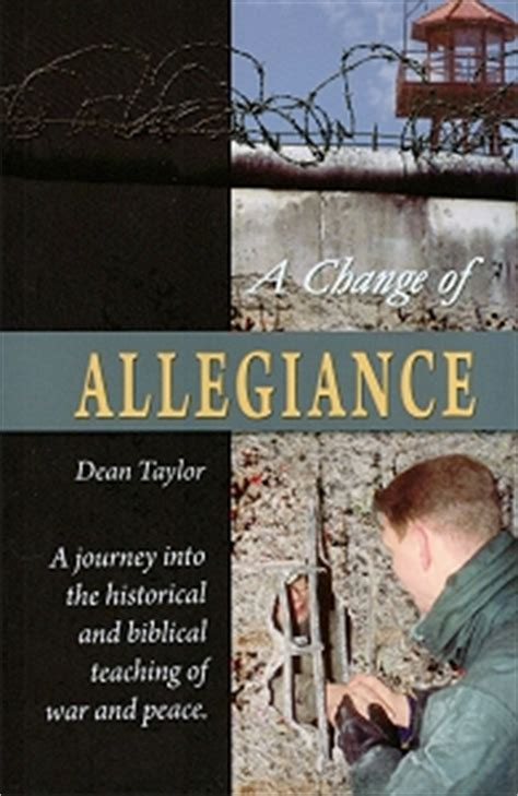 perspective a journey of demonstrated thought change books a change of allegiance by dean