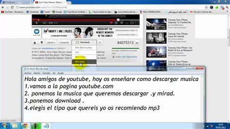 como descargar videos de youtube sin instalar programas ni como descargar musica de youtube gratis facil y sin