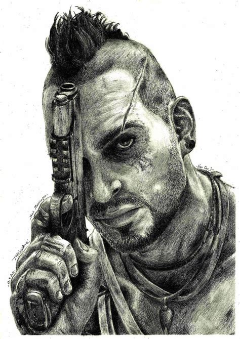 Far Cry 5 Sketches by Far Cry 3 Vaas Montenegro By Patrisb On Deviantart