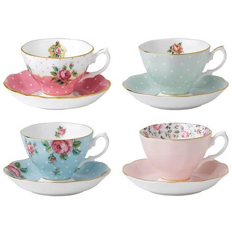 Set Floral Tea Cup Saucer Teaspoon royal albert vintage mix teacup saucer set 8pce