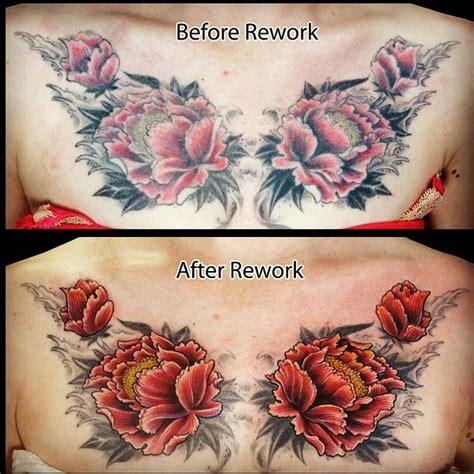 flower tattoo rework flower color rework tattoo by james kern tattoos