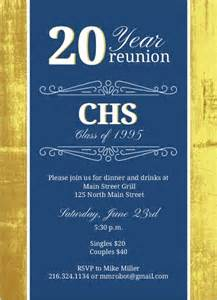 classic colors 20 year class reunion invitation print or send