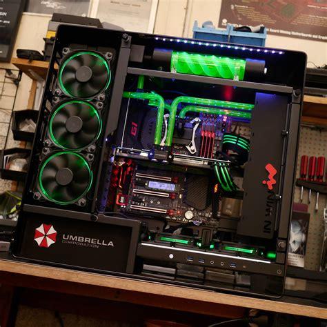 custom gaming desk custom pc called t virus anything electronic