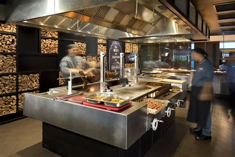 Resturant Grill by A Customized Grill With 3 Separate Grilling Sections For