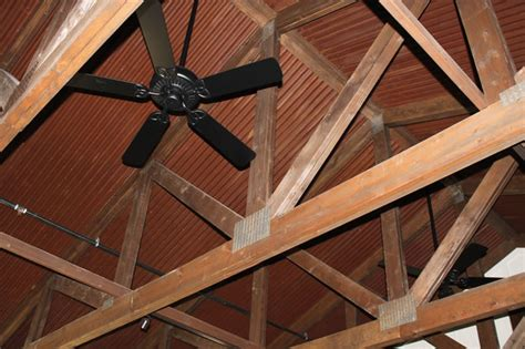 corten corrugated ceiling rustic by western