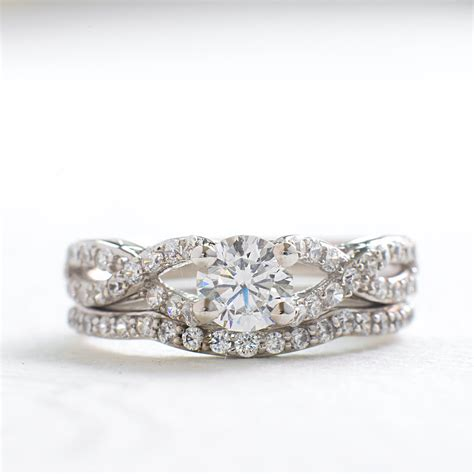 deco wedding ring set deco wedding ring set vintage engagement ring set