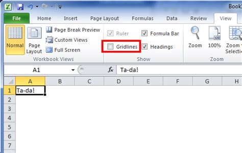 format gridlines excel 2010 excel do s and don ts removing gridlines spreadsheets