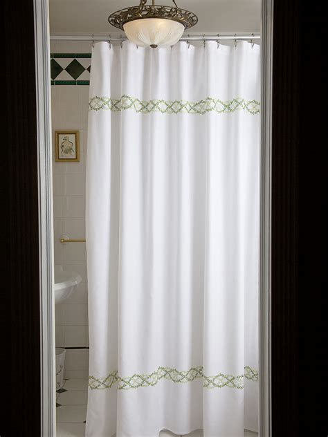 linen shower curtain white