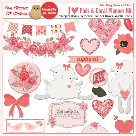free printable valentines planner stickers free bible journaling tip in margin strip stickers