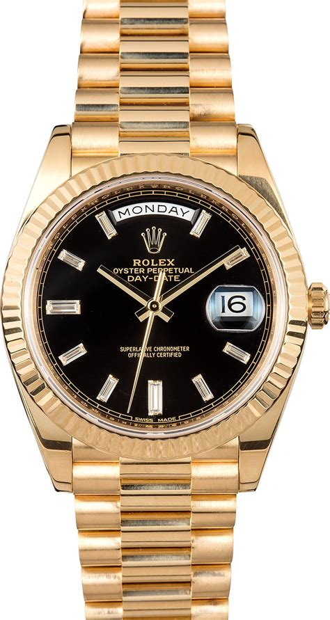 date on day rolex day date ii 228238 40mm presidential