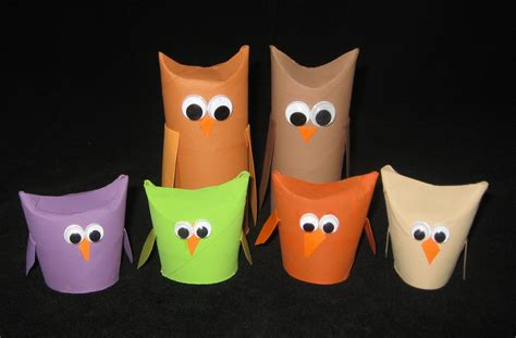 Toilet Paper Owl Craft - derosier my creative toilet paper roll owls