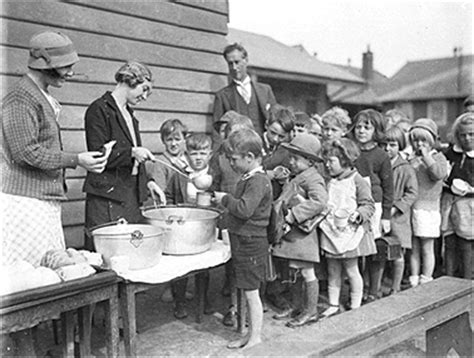 children soup line town country gardening