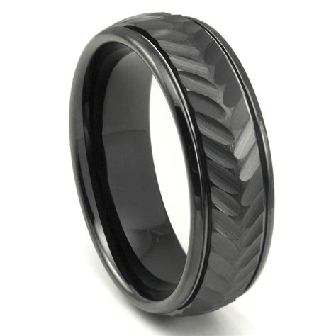 Wedding Bands Black by Black Tungsten Wedding Bands