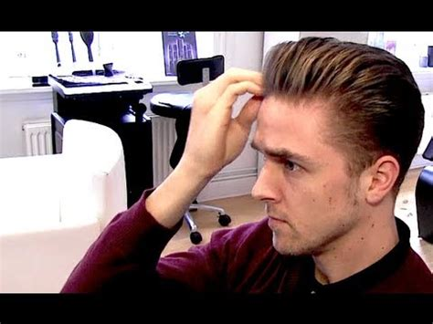 rockabilly rear view of men s haircuts men s classic rockabilly hairstyle blowdryer tutorial