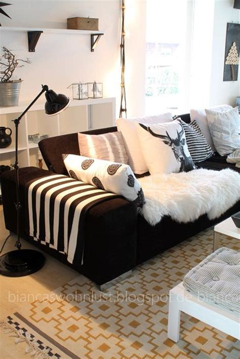 black couch with pillows living room deer pillow living room pinterest