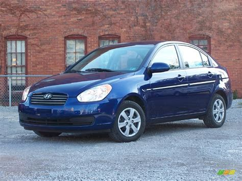 Blue Hyundai Accent by 2008 Sapphire Blue Hyundai Accent Gls Sedan 20072797