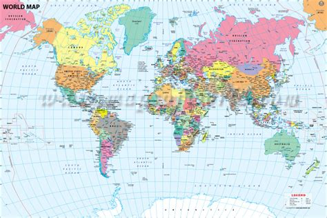 buy world map  major cities