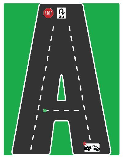 printable highway letters 27 best images about drive the alphabet highway road