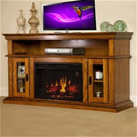 discount electric fireplace oak media console 95798 ebay