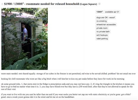 craigslist shared rooms craigslist roommate ad terrifies and disturbs us to our the daily dot