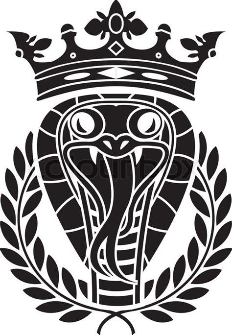 king of snakes stencil vector illustration stock