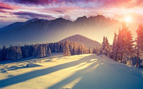 imagenes de otoño invierno paisajes fondo de pantalla sombras atardecer de invierno hd