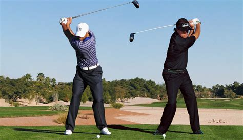 best golf swing on tour the kings of augusta tiger woods and phil mickelson