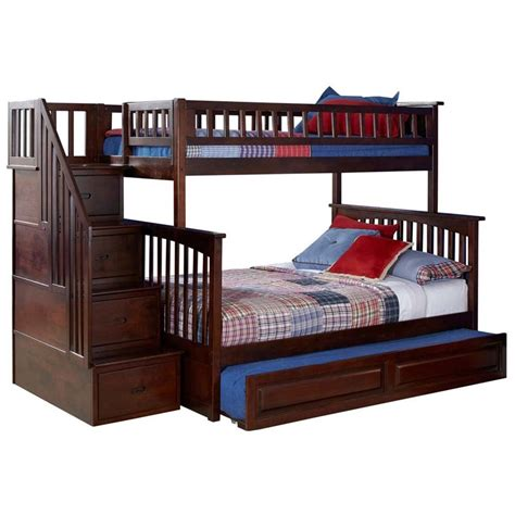 atlantic furniture bunk bed atlantic furniture columbia twin over full staircase