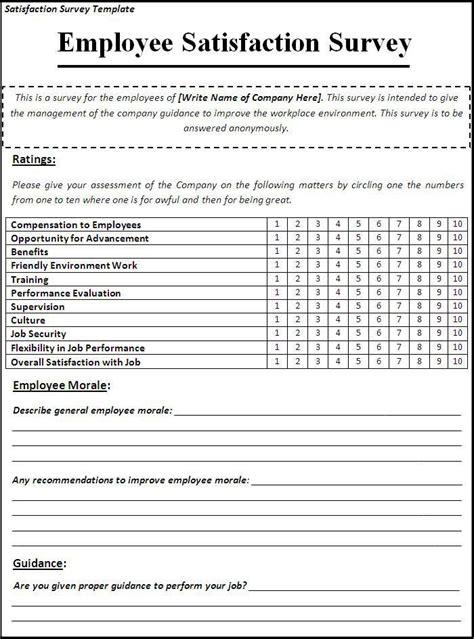 Satisfaction Survey Template My Likes Survey Template Customer Satisfaction Survey Template Employee Satisfaction Survey Template