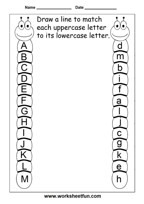 Match Uppercase And Lowercase Letters – 11 Worksheets