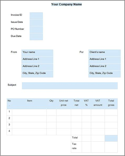 openoffice invoice template open office invoice template