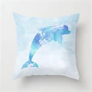 dolphin pillow case nautical home decor beach art dolphin bedroom decor home decor pinterest