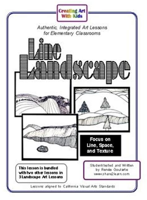 Textured Landscape Lesson Summer Landscape The And Patterns On