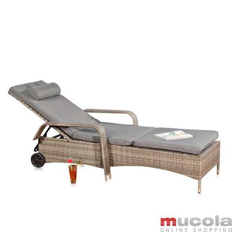 gartenmöbel liege rattan lounge grau relaxsessel sitzgruppe lounge sofa