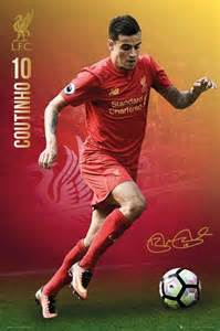 Football Wall Murals philippe coutinho 2016 2017 liverpool f c poster buy online