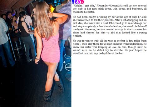caption tricked into wearing a dress into the club caption 30 by tgxd fan on deviantart