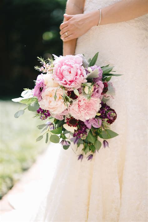 Flower Wedding Songs by Cascading Bridal Bouquet Of Light Pink Peony