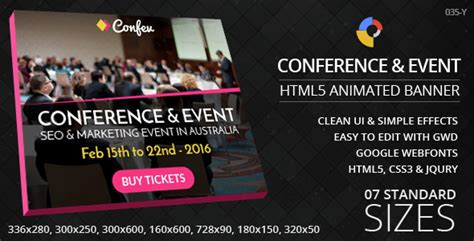 conference banner template conference event html5 ad banners jogjafile