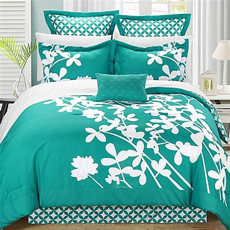 turquoise king comforter buy chic home sire 11 piece reversible king comforter set