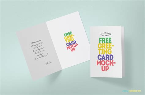 free card free greeting card mockup zippypixels